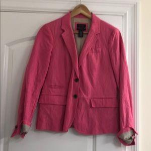 "JCrew pink ""Schoolboy"" blazer"